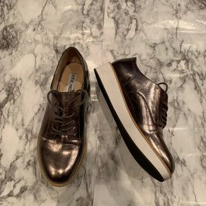 Steve Madden Platform Metallic Fashion Sneakers